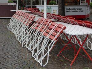 geschlossenes Restaurant wegen Corona